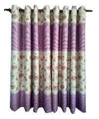 BALEENA ผ้าม่านประตู  (150x250ซม.) 887-4 สีม่วง
