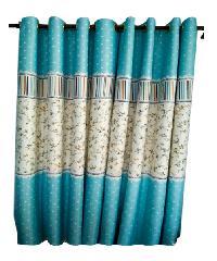 ผ้าม่านประตู   (150x250ซม.) 882-2 สีฟ้าอ่อน