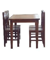 Global house ชุดโต๊ะอาหารไม้สักทอง 4 ที่นั่ง TC-1/4
