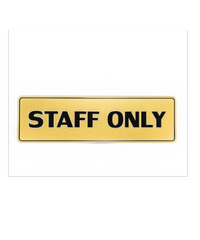 Cityart nameplate ป้าย STAFF ONLY SGB9101 สีทอง