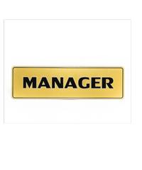 Cityart nameplate ป้าย MANAGER SGB9101 สีทอง