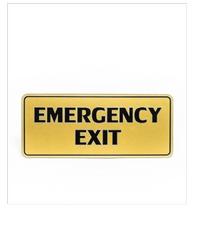 Cityart nameplate ป้าย EMERGENCY EXIT  SGB9101 สีทอง