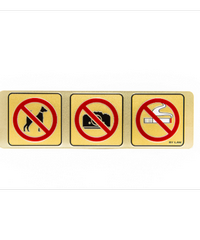 Cityart nameplate ป้าย ห้ามสัตว์เลี้ยง,ห้ามถ่ายรูป,ห้ามสูบบุหรี่ SGB9101 สีทอง