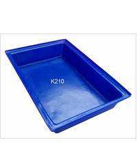 ฉลาม S&P ถาดสีเหลี่ยมขนาดเล็ก  18 ลิตร.สีน้ำเงิน K210 น้ำเงิน