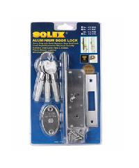 SOLEX กุญแจบานเลื่อน 412HSS เงิน
