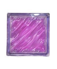 ช้างแก้ว บล็อกแก้วสี คลื่นสมุทร  N-009/944  สีชมพู