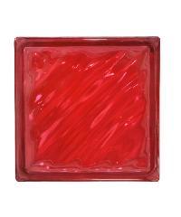 ช้างแก้ว บล็อกแก้วสี คลื่นสมุทร N-009/945 สีแดง