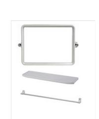 PIXO กระจกชุด3ชิ้นแบบเหลี่ยม MS07 ขาว