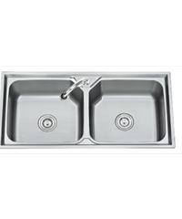 TECNOGAS อ่างล้างจาน 2 หลุม Sink TNS 201000 SS สแตนเลส