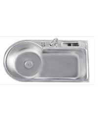 TECNOGAS อ่างล้างจาน 1หลุม  Sink TNP 1097 แสตนเลส