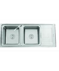TECNOGAS อ่างล้างจาน 2 หลุม 1ที่พัก Sink TNP 201 แสตนเลส