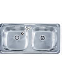TECNOGAS อ่างล้างจาน 2 หลุม Sink TNP D 100 แสตนเลส