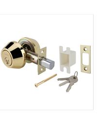 HAFELE กุญแจลิ้นตาย 2 ด้าน 489.10.505 ทองเหลืองเงา
