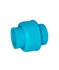 Super Products ข้อต่อยูเนี่ยน  3/4นิ้ว U-PVC ฟ้า