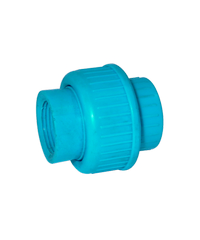Super Products ข้อต่อยูเนี่ยน  1นิ้ว  U-PVC ฟ้า