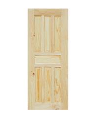 WINDOOR ประตูลวดลาย ขนาด 80x200 ซม. CE 115 Pine 80x200 ขาวเหลือง