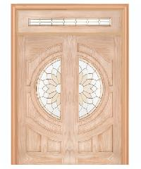 WINDOOR ประตู+กระจก สนNz 90x200 SUN FLOWER Com14  สีเหลือง