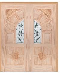 WINDOOR ประตู+กระจก สนNz 80x200   ชัยพฤกษ์ Com6 สีเหลือง
