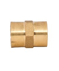 DUSS อุปกรณ์ข้อต่อตรงเกลียวในทองเหลือง 1/2 M4 M4 ทองเหลือง