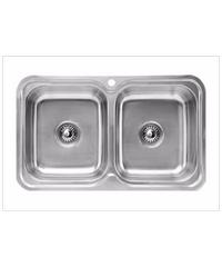 HAFELE อ่างล้างจาน 2 หลุม  567.20.039 ซาตินเงา