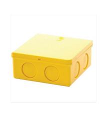 ช้าง กล่องพักสายไฟสีเหลี่ยม  4x4 สีเหลือง
