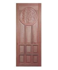 BEST ประตูไม้สยาแดง ขนาด 80x200 cm. GC-90