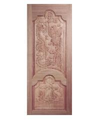 BEST ประตูไม้สยาแดง ขนาด 80x200 cm. GC-91