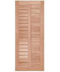 BEST ประตูไม้สยาแดง ขนาด 80x200 cm. GS-22