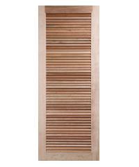 BEST ประตูไม้สยาแดง  ขนาด 90x200 cm. GS-23