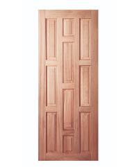 BEST ประตูไม้สยาแดง บานทึบลูกฟัก 80x200cm.  GS-45