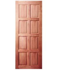 BEST ประตูไม้สยาแดง ขนาด 80x200cm. GS-48