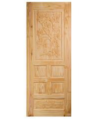 BEST ประตูไม้สน ขนาด 80x205 cm. GC-34