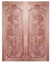 BEST ประตูไม้สยาแดง  ขนาด 80x220 cm. GC-17