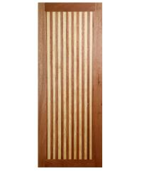 BEST ประตูไม้สยาแดง ขนาด 50x200 cm. GL-01