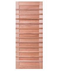 BEST ประตูไม้สยาแดง  ขนาด90x220 cm. GS-59