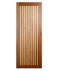 BEST ประตูไม้สยาแดง ขนาด  80x220 cm GL-01