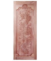 BEST ประตูไม้สยาแดง 90x220 cm.(ทำสี) GC-17