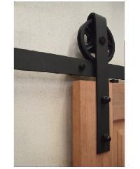 BEST วงกบประตูไม้เนื้อแข็งพร้อมชุดรางเลื่อน 260x220cm. -