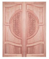 BEST ประตูไม้สยาแดง  90x220cm. GC-07