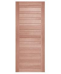 BEST ประตูไม้สยาแดง  80x200cm. ทำสีโอ๊ค  GS-53