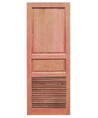 BEST  สพ-ประตูไม้สยาแดง 2ฟักบนเกล็ดล่าง 70x200ซม.  GS-27