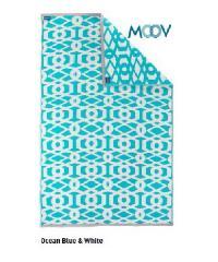 Moov เสื่อพรมพลาสติก 1.5 x 2.4 m RINKU M สีฟ้าทะเล MOOV RUG Size M สีฟ้า