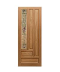 Masterdoors ประตูกระจกไม้สยาแดง ขนาด 80x200 cm.   Jasmine-06A ธรรมชาติ