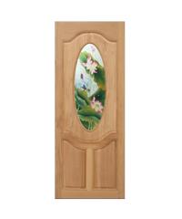 Masterdoors ประตูไม้สยาแดง ขนาด  80x200 cm. MASTER-V02