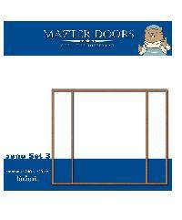 Masterdoors วงกบประตูไม้แคมปัส  170x200 cm. SET 3