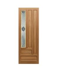 Masterdoors ประตูกระจกไม้สยาแดง ขนาด  70x200 cm.  JASMINE-05A  ธรรมชาติ