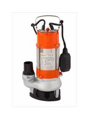SUMOTO POMPA ปั๊มจุ่มน้ำเสีย 180 วัตต์ พร้อมลูกลอย VORTEX 180F ส้ม-เทา
