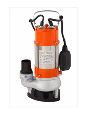 SUMOTO POMPA ปั๊มจุ่มน้ำเสีย 450วัตต์.พร้อมลูกลอย VORTEX450F ส้ม