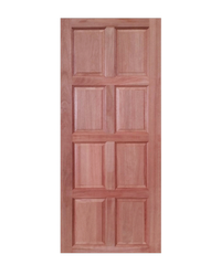 CHALET ประตูกวางแดงลาว 8 ฟักตรง ขนาด 80x200 ซม. D001 แดง-น้ำตาล