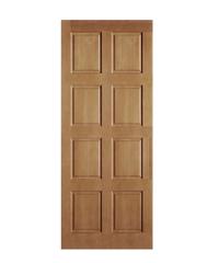 CHALET ประตู 8 ฟักตรง  ขนาด 90x200 ซม. Red wood น้ำตาล